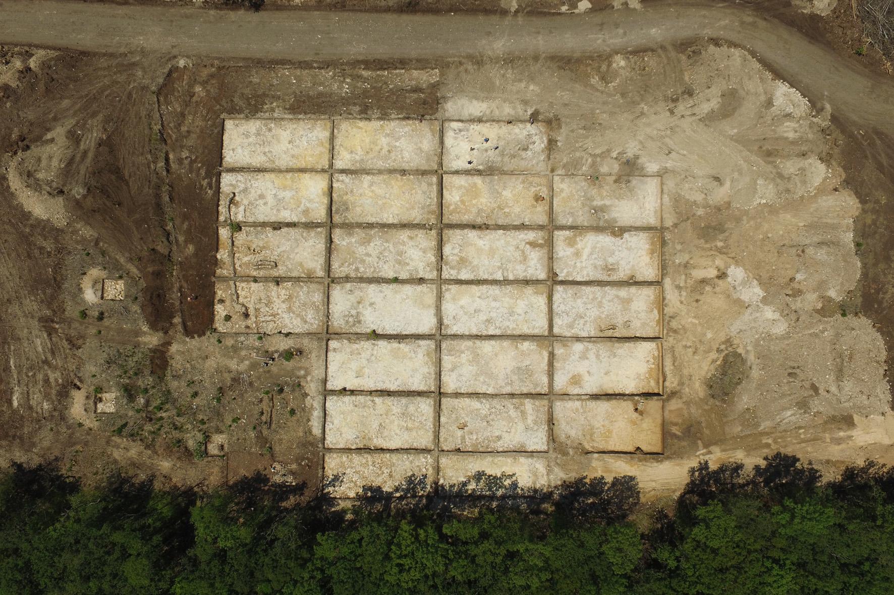Раскоп с воздуха 1